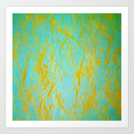 Composition in Blue & Orange Art Print