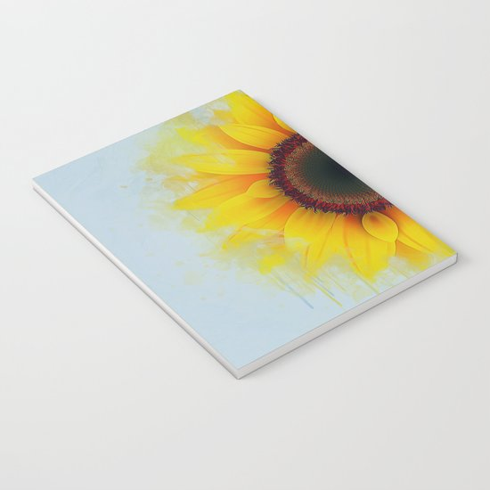 Sunflower Painting Notebook By Ianmitchell Society6