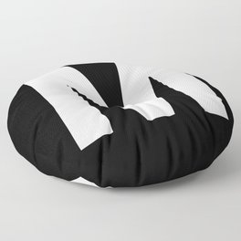 Letter M (White & Black) Floor Pillow