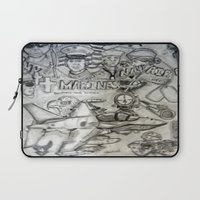 military Laptop Sleeves featuring Military by Amanda McCrory