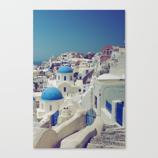 Blue Domes, Oia, Santorini, Greece Canvas Print