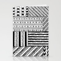 black white Stationery Cards featuring Black&White White&Black by Kaitlyn_Michelle_
