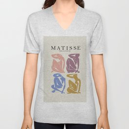 Matisse nude woman pastel hues Unisex V-Neck