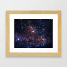 Stars and Nebula Framed Art Print
