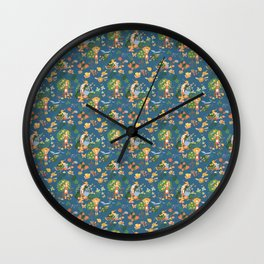 Gardening Party Wall Clock