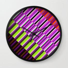 Retro strips of Color Wall Clock