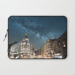 Madrid at night Laptop Sleeve
