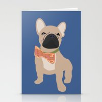 frenchie Stationery Cards featuring Frenchie by StephyLouPavlik