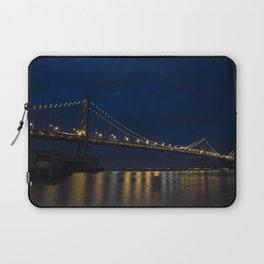 Bay Bridge at Night Laptop Sleeve