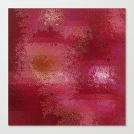 Pink and Red Moon Canvas Print