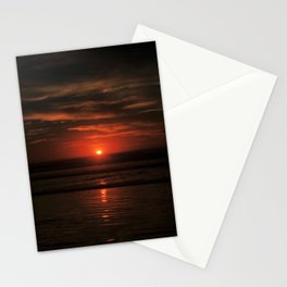 A Sunset on the horizon Stationery Cards