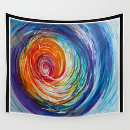 Rainbow Wave Wall Tapestry