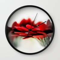 moulin rouge Wall Clocks featuring Rouge  by Norie