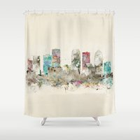 florida Shower Curtains featuring tampa florida  by bri.buckley