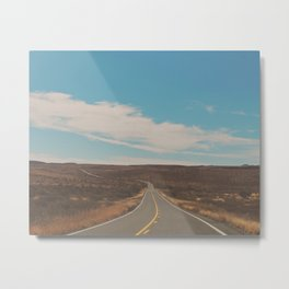 explore. adventure. Open Road Metal Print