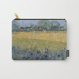 Vincent Van Gogh - View of Arles with Irises, 1888 Carry-All Pouch