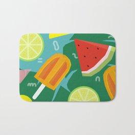 Watermelon, Lemon and Ice Lolly Bath Mat