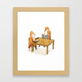 Foxy Dinner Framed Art Print
