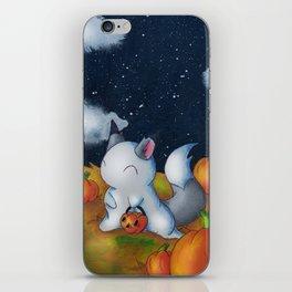 Ghost in the Pumpkins iPhone Skin