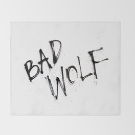 Doctor Who bad wolf Throw Blanket