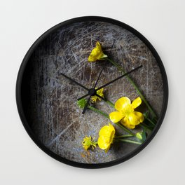 Buttercup Pick Me Up Wall Clock