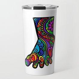 Folk Art Foot Travel Mug