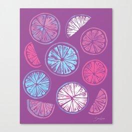 Citrus Wheels - Plum and Berry Canvas Print