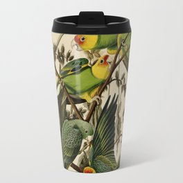 Vintage Parrot Illustration Travel Mug