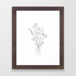 Small Wildflowers Minimalist Line Art Framed Art Print