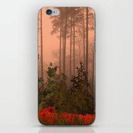The Memories of poppies iPhone Skin
