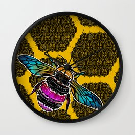 Honeybee lace | Nicole B Roberts Wall Clock