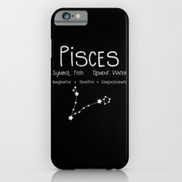 Pisces Horoscope Astrology Star Sign Birthday Gift iPhone Case