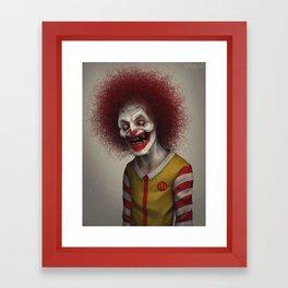 Ronald McDonald Framed Art Print