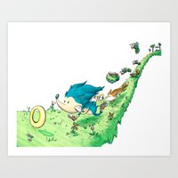 Starring Sonic and Miles 'Tails' Prower (Alt.) Art Print