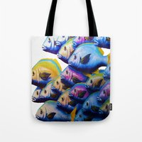 school Tote Bags featuring school by Bocese
