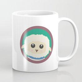 Cute Sheep with purple Circle Coffee Mug