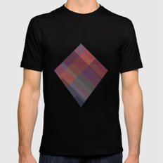 Abstract Mountain Mens Fitted Tee Black MEDIUM