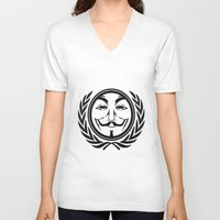 community V-neck T-shirts featuring Anonymous community by Komrod
