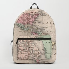 Vintage Map of The World (1874) Backpack