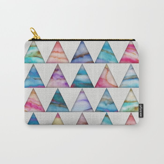 Marble Triangles 2 Carry-All Pouch