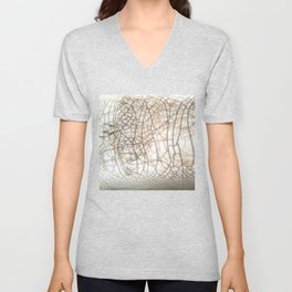 Raku crackles Unisex V-Neck