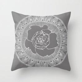 Rose Mandala Throw Pillow