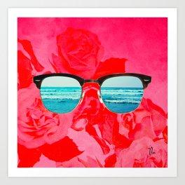 iSea Pink Art Print