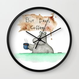 But first, coffee. Perfect for all you caffeine lovers. Wall Clock