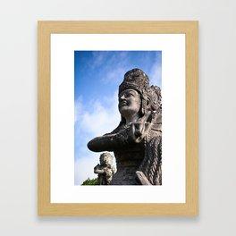 Balinese Statue Framed Art Print