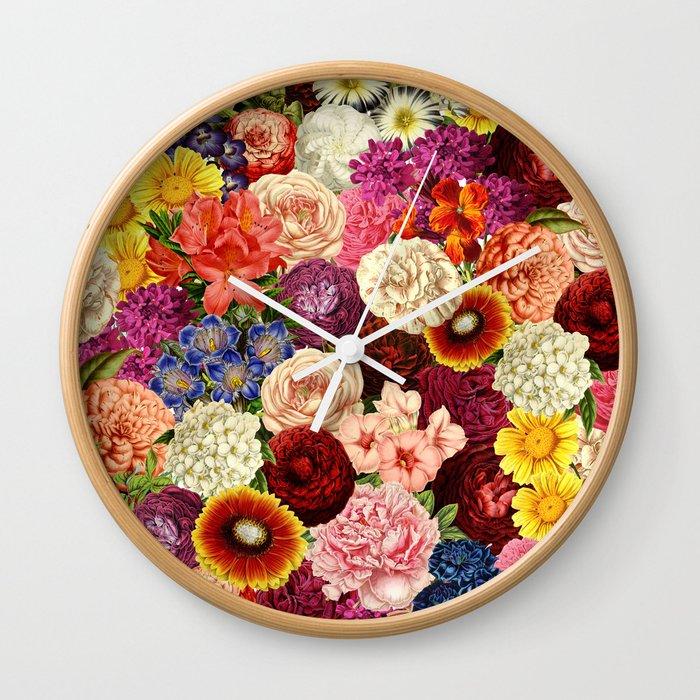 Spring Explosion Wall Clock