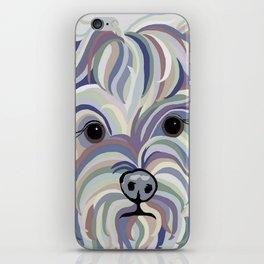 Yorkie Denim Colors iPhone Skin