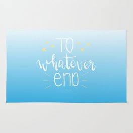 To Whatever End (Blue) Rug
