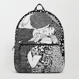 The kiss. Gustav Klimt Backpack