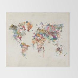 world map watercolor Decke